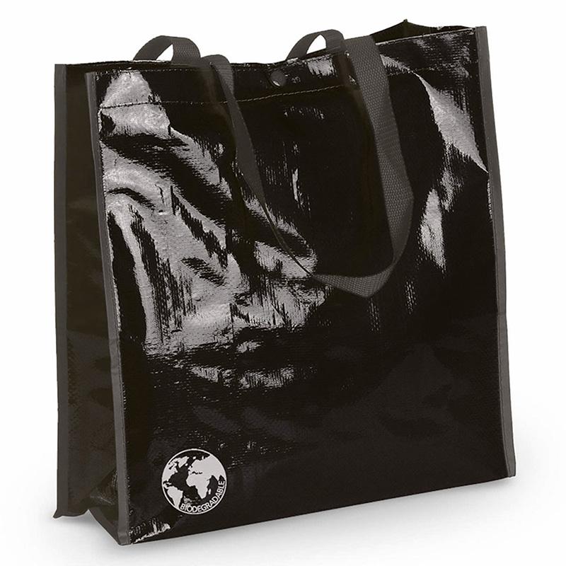 Bolsa biodegradable. Varios colores. Asas reforzadas. Acabado cosido. bolsa recilada detalles boda negro