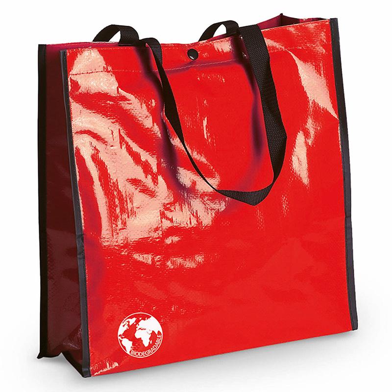 Bolsa biodegradable. Varios colores. Asas reforzadas. Acabado cosido. bolsa recilada detalles boda rojo