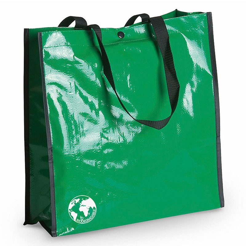 Bolsa biodegradable. Varios colores. Asas reforzadas. Acabado cosido. bolsa recilada detalles boda verde