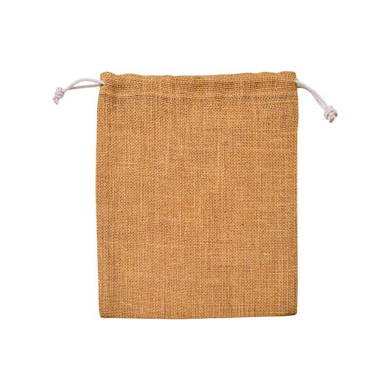 Bolsa tipo yute 16x20cm. Cierre con cuerda