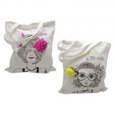 Bolsa shopping de algodón Carmen