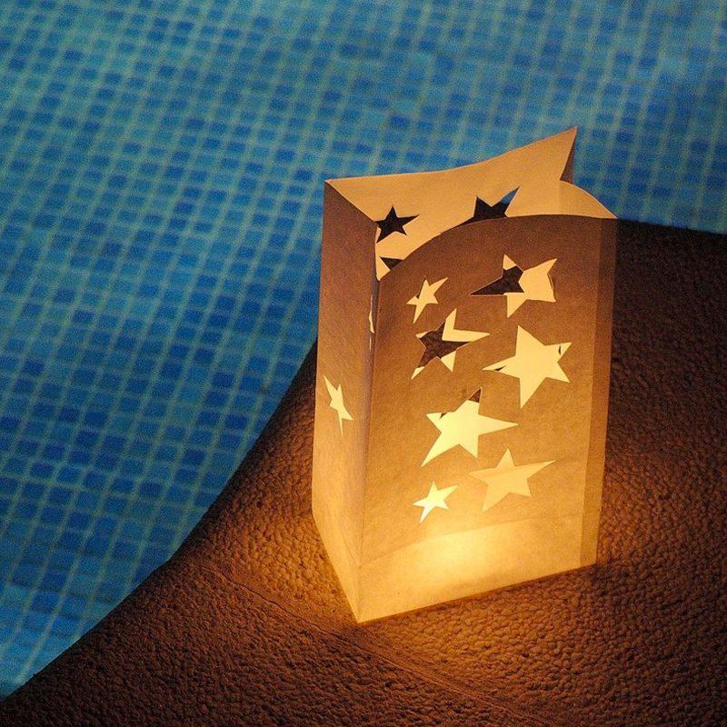 Bolsa papel decoraci n para velas estrellas - Bolsas de papel para velas ...