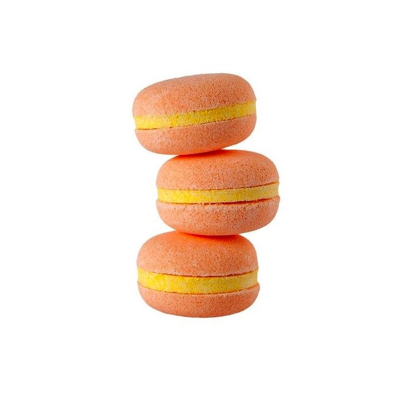 Macarons de baño hidratante. Melocotón