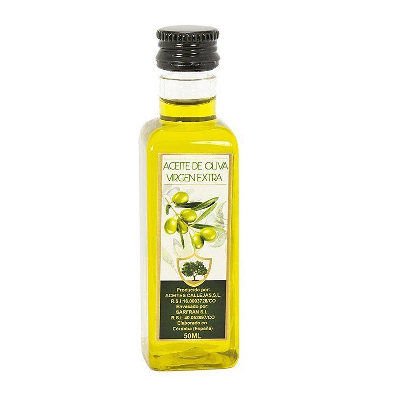 Botella aceite de oliva. 50ml. Botella de plástico. Tapón de rosca.