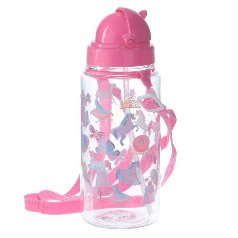 Botella de agua infantil, plástico, con pajita, unicornio, 450ml botella agua infantil pajita unicornio 450ml 2