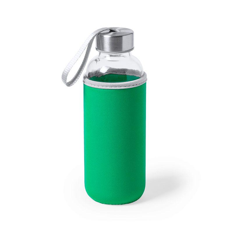 Botella H2O, 420ml, 5 colores, cristal, funda de neopreno, modelo rain botella h2o 420ml 5 colores cristal modelo rain verde