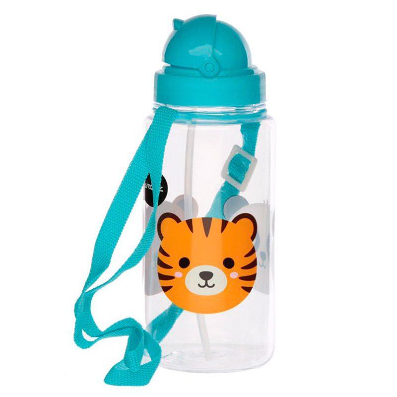 Botella de agua infantil, plástico, con pajita, animales adorables, 450ml botella infantil animales adorables 450 4