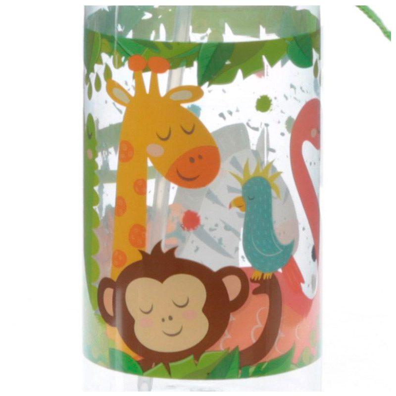 Botella de agua infantil, plástico, con pajita, selva, 450ml botella infantil selva 450 9