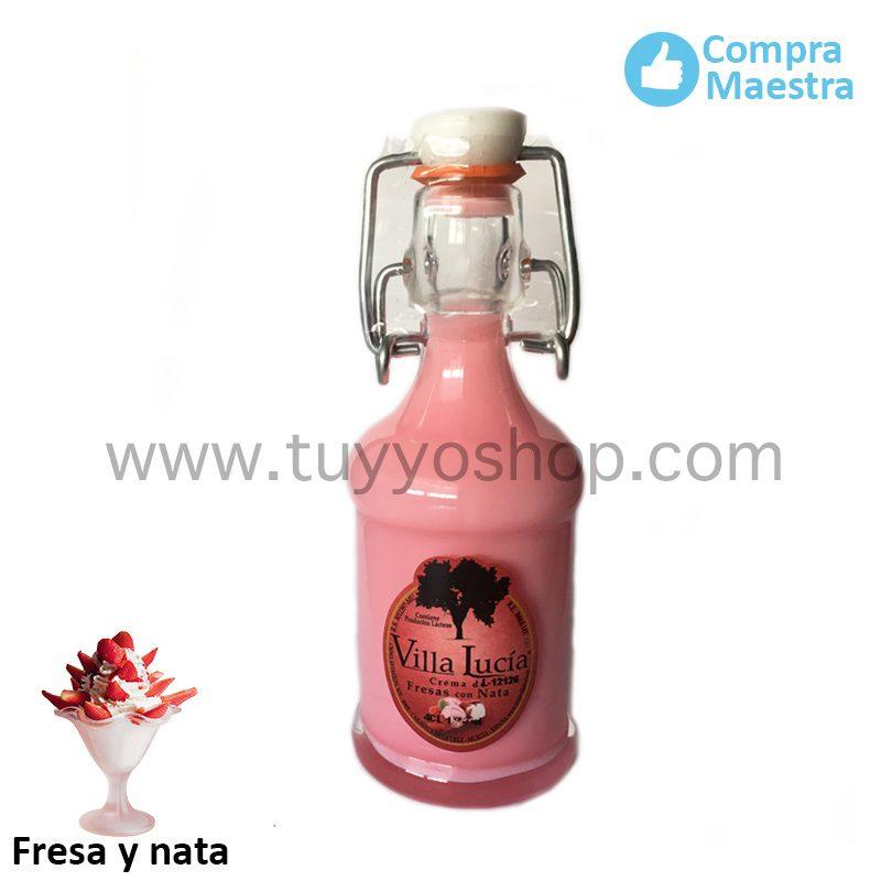 Licor de orujo para boda modelo sifón en sabor Fresas con Nata