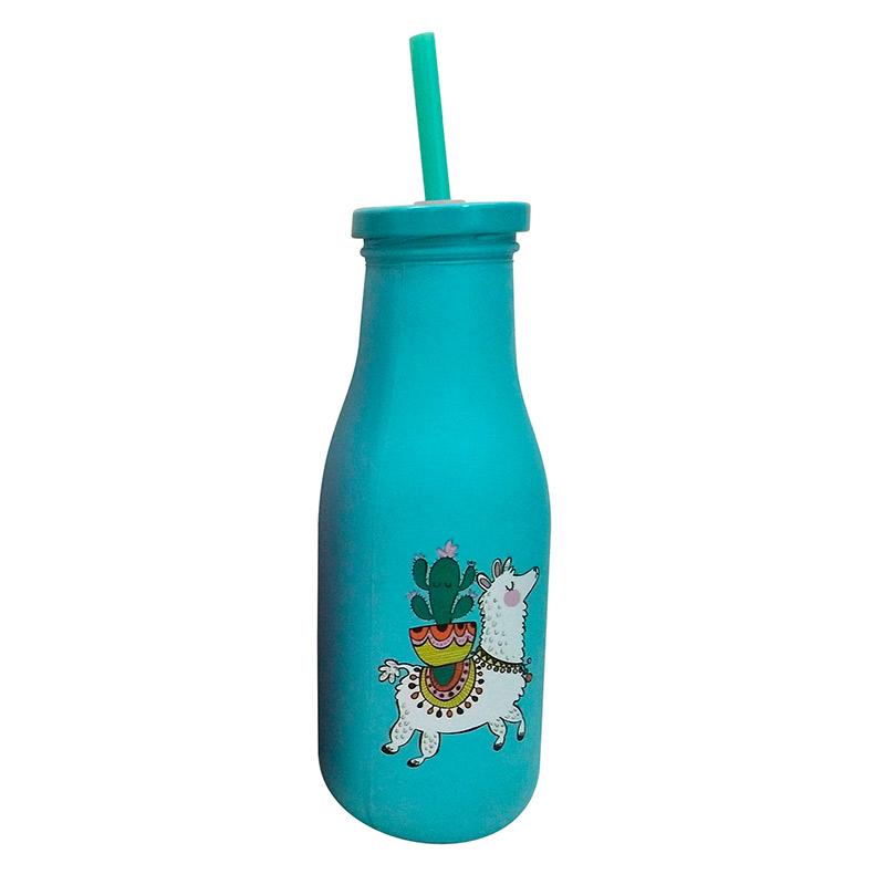 Botella multiusos con pajita. Modelo Llama