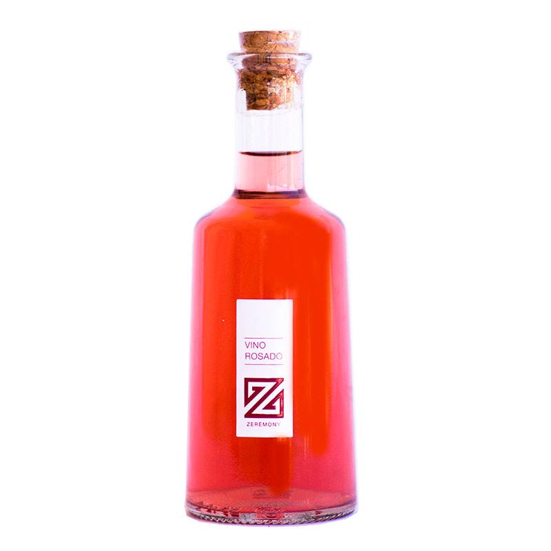 Ultimos regalos para invitados añadidos botella vino rosado primula bodas