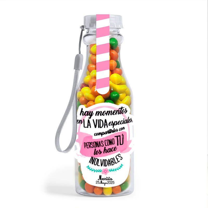 Botellas personalizadas llenas de chuches