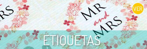 Prepara tus regalos con nuestra colección de etiquetas para boda.