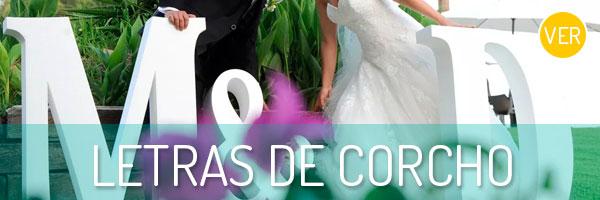 Compra las letras de corcho más originales para tu boda