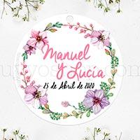 Etiquetas personalizadas para los regalos de boda