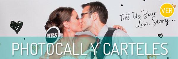 Descubre los carteles y photocall mas originales para tu boda.