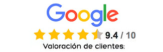 Valoraciones positivas Google