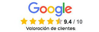 Valoraciones positivas Google