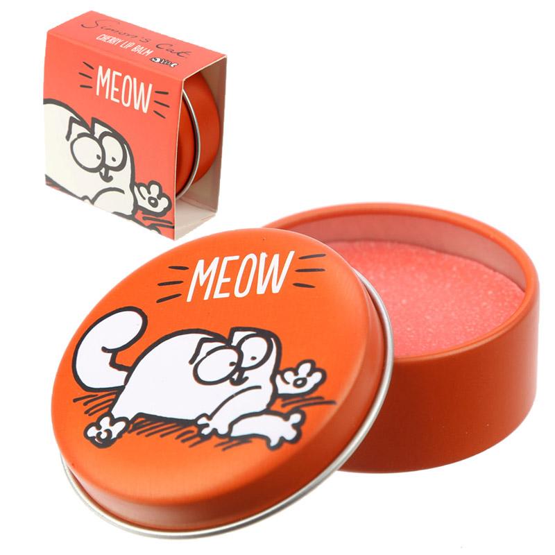 Brillo labial en latita modelo Gato. 4 sabores.
