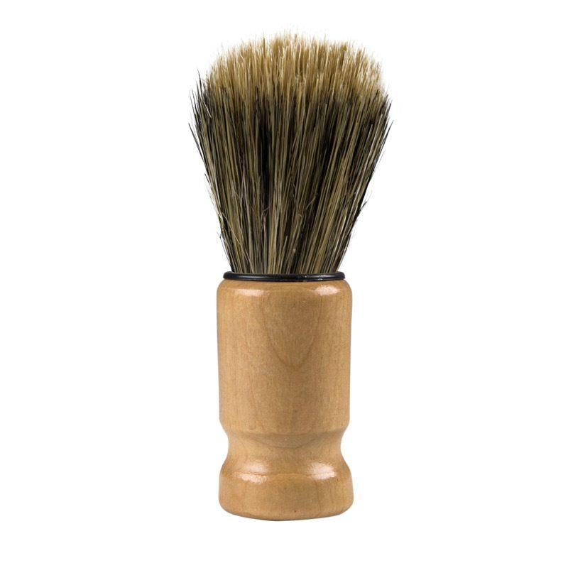 Brocha de afeitado vintage presentada en caja kraft