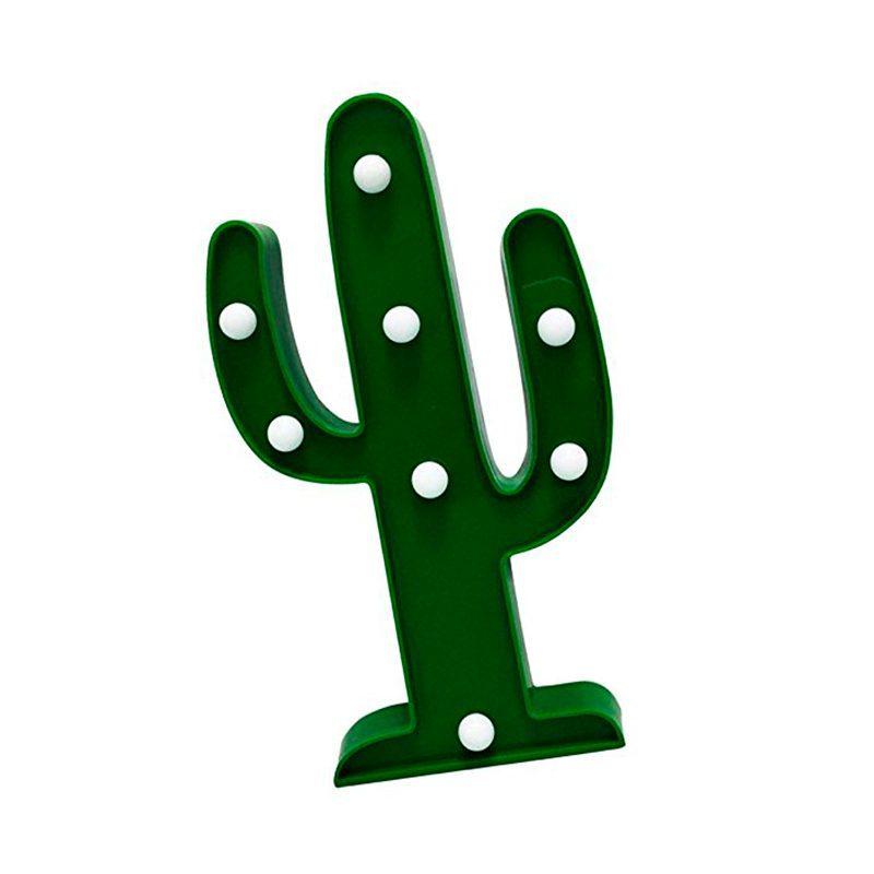 Cactus decorativo con iluminación led