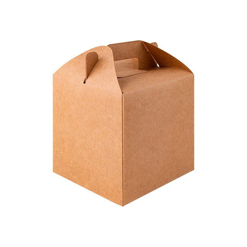 Caja de regalo de presentación. Kraft. 10x10x13.5cm
