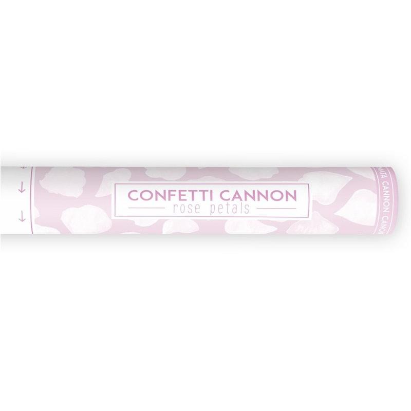 Lanzador pétalos de rosa en color blanco 40cm canon confeti 40cm petalos blancos 2