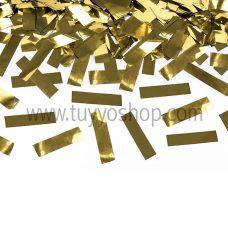 Cañón confeti metalizado dorado 60cm
