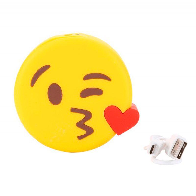 Cargador USB Power Bank emoticono