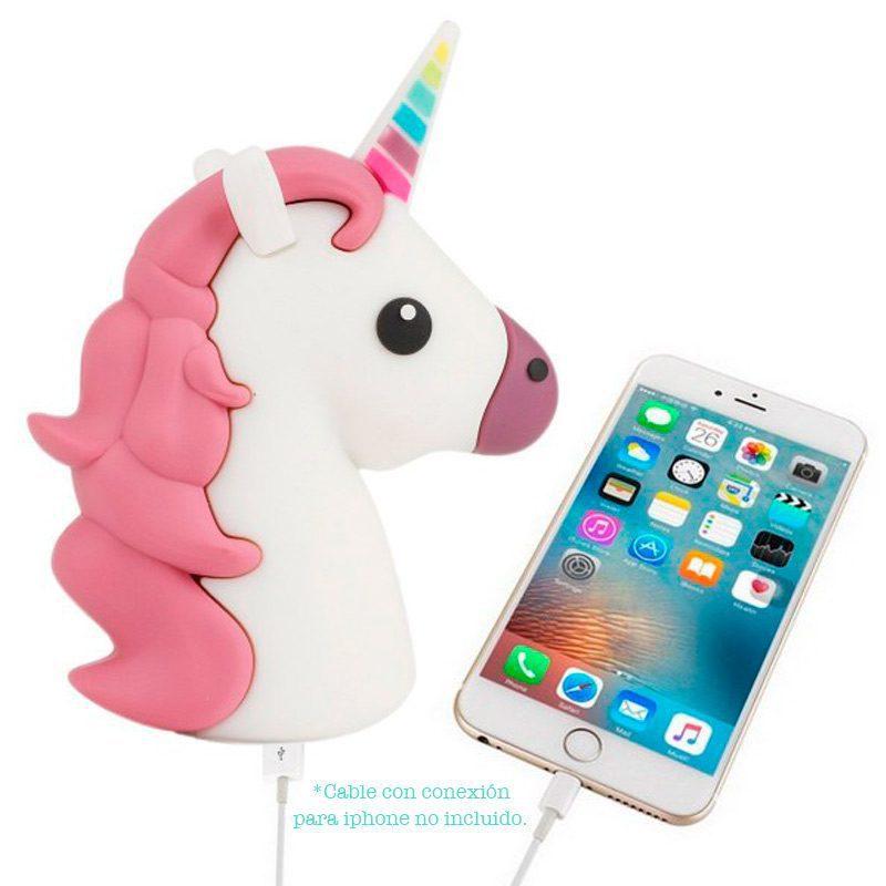 Cargador usb power bank unicornio