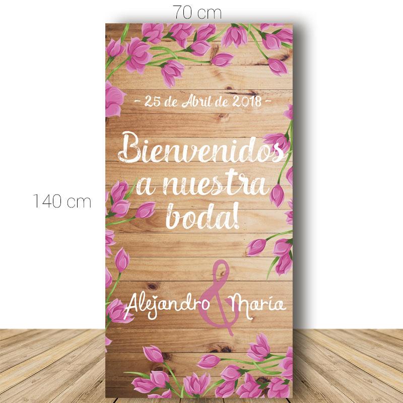 Cartel de bienvenida para boda modelo Sevilla.