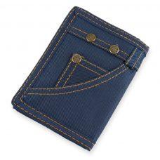 Cartera para boda, modelo Jeans. Color azul.