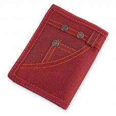 Cartera para boda, modelo Jeans. Color rojo.