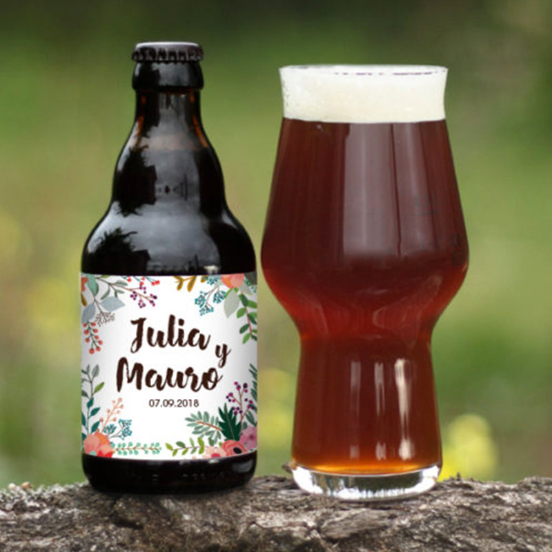 Cerveza personalizada para boda. 33cl. Boletus.