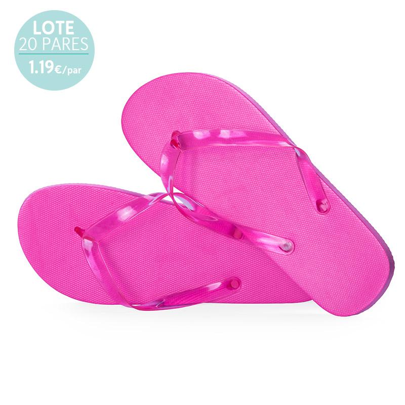 Sandalias para mujer. Modelo Eva. Lote 20 pares. Fucsia.1.19€/par