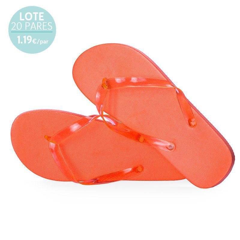 Sandalias para hombre. Modelo Edu. Lote 20 pares. Naranja .1.19€/par