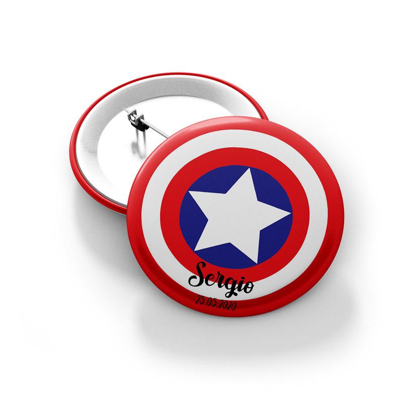 Chapa para comunión. Imperdible. Capitán USA.