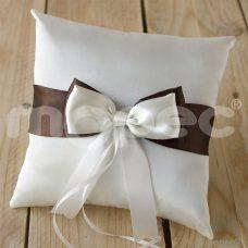 Cojín para alianzas de boda, en color marfil, 20x20cm