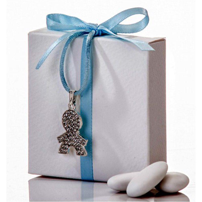 Colgante niño strass en cajita regalo