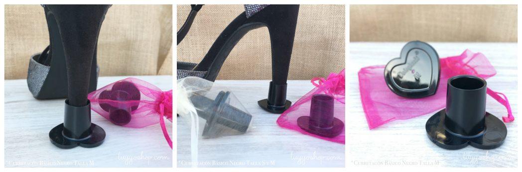 Protectores de tacón para bodas en color negro