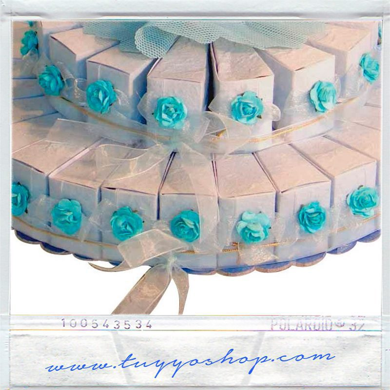 Set de 45 Cajitas de Tarta Cono Celestes comprar cajitas tarta celeste