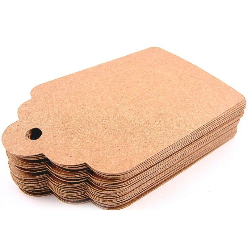 Lote 50 tarjetas kraft marrón o blanco comprar lote 50 tarjetas kraft 1