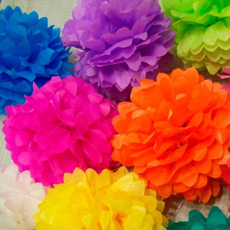 Pompones de papel de seda 35cm comprar pompon seda 35cm 2