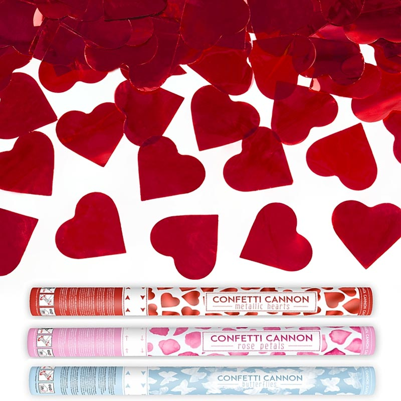 Confeti y pétalos de rosa
