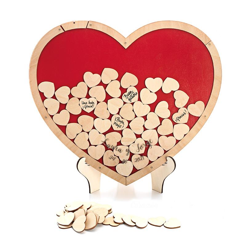 Corazón de los deseos. 38x43cm. 70 corazones. Madera