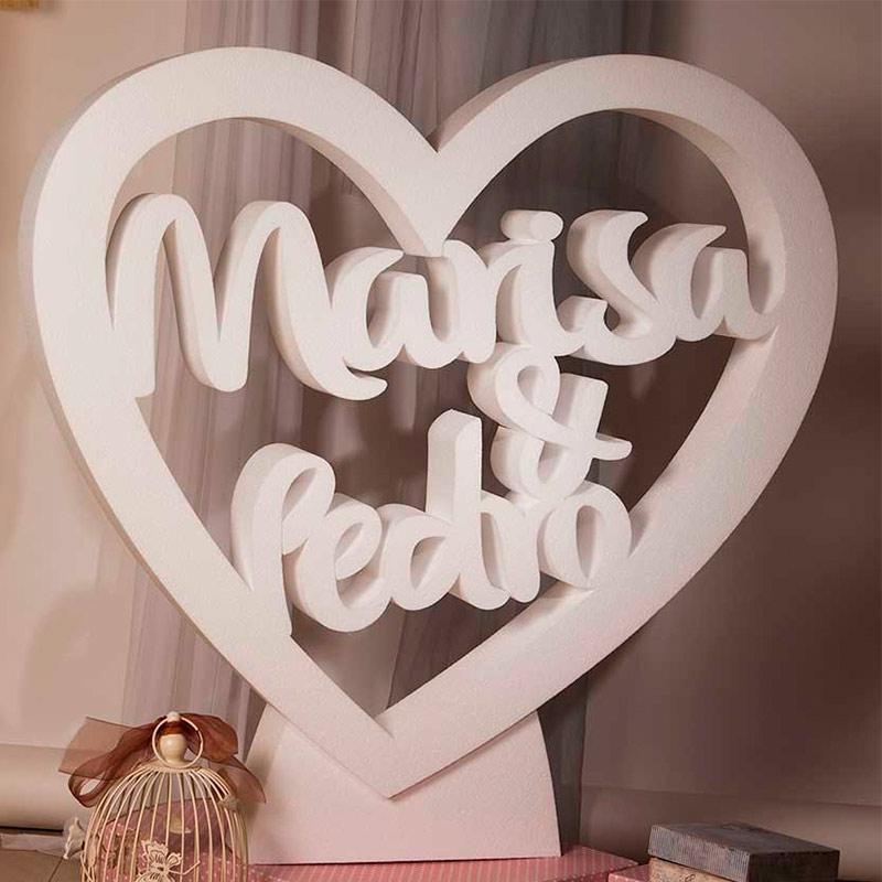 Ultimos regalos para invitados añadidos corazon gigante personalizado
