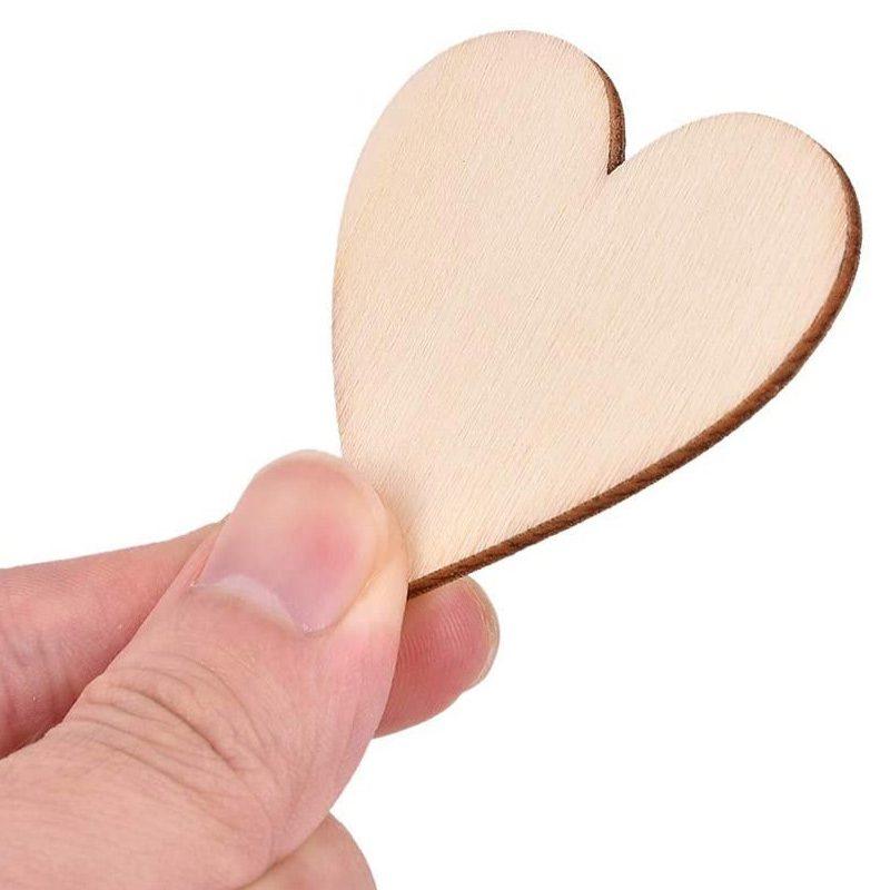 Ultimos regalos para invitados añadidos corazones madera bodas personalizado