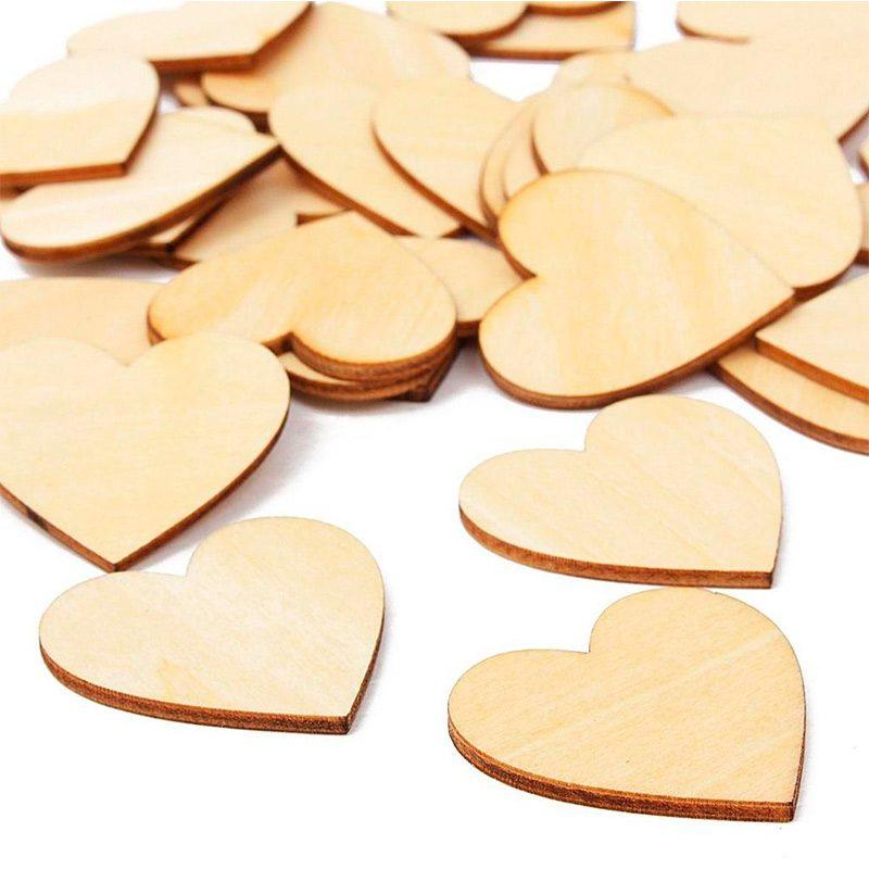 Pack 50 corazones de madera, especial bodas, varios tamaños, opción de personalizarlos corazones madera bodas