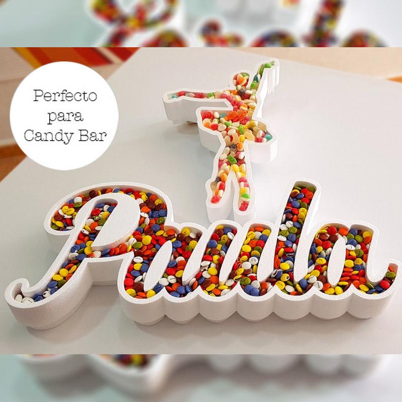 Corcho para candybar. Personalizado. Modelo Bailarina