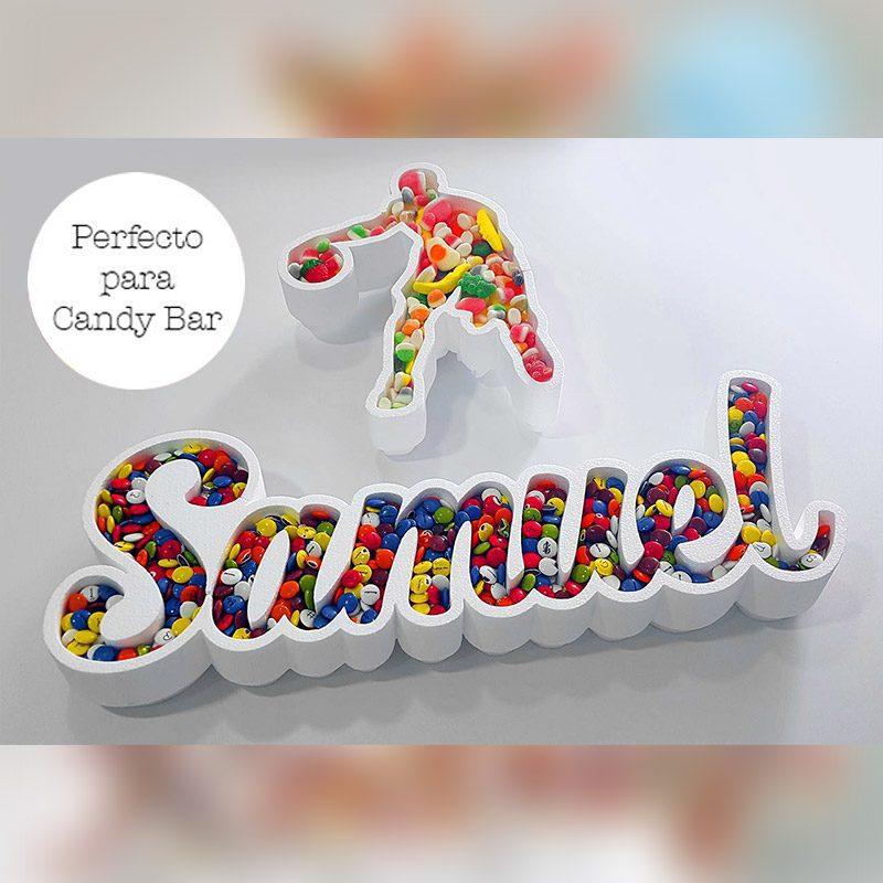 Corcho para candybar. Personalizado. Modelo baloncesto
